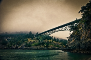 Deception Pass Bridge by Eddie Murdock