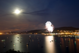 Fourth of July over Anacortes by Sid Wray