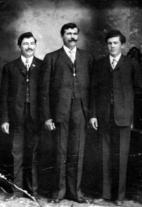 Croatian fishermen Anton, Ivan, and Petar Maricich, Anacortes, ca. 1907